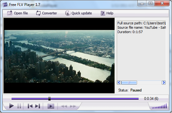 Click to view Free FLV Player 2.0 screenshot